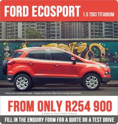 Purchase a Ford Ecosport 1.5 TDCi Titanium now from only R254 900.