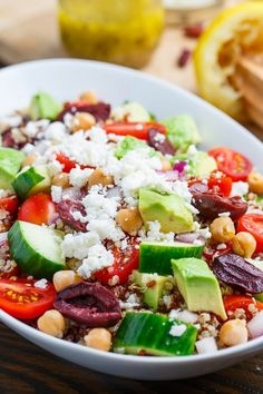 Mediterranean Quinoa Salad- great flavors. Done somethings similar before. but, can't go wrong with another way to serve quinoa!