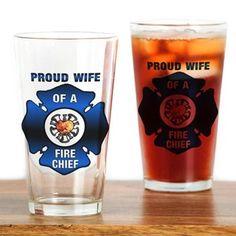 Fire Chiefs Wife Drinking Glass