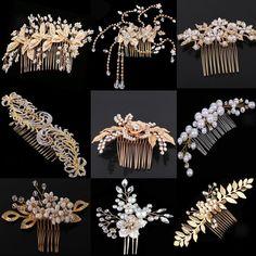Bridal Hair Down, Hair Comb Clips, Bride Flowers, Wedding Hair Clips, Rhinestone Wedding, Pearl Flower, Wedding Hair Accessories, Hair Jewelry, Hair Pins