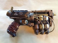 My first Steampunk project. Started out as a Nerf Maverick Named Madge Chat Steampunk, Steampunk Weapons, Style Steampunk, Steampunk Gadgets, Steampunk Cosplay, Steampunk Design, Steampunk Clothing, Steampunk Fashion, Steampunk Drawing