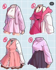 Cartoon Outfits, Anime Outfits, Teen Fashion Outfits, Fashion Art, Girl Outfits, Cute Outfits, Fashion Design Drawings, Fashion Sketches, Art Sketches