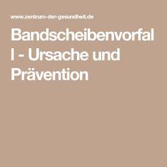 Bandscheibenvorfall - Ursache und Prävention