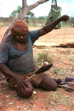 ''Wirriji'' or hairstring, spun from human hair