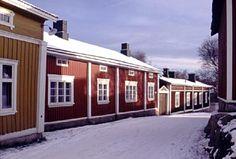 old wood houses in Rauma