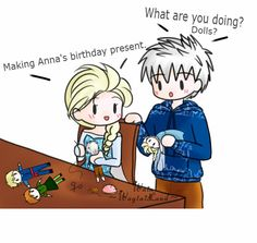 Elsa making dolls for Anna part 1/2
