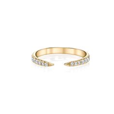 White Diamond Tapered Ring