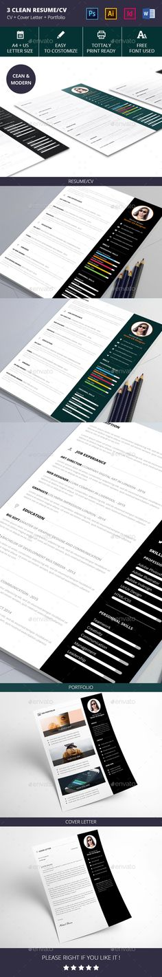 Infographic resume template - Create an awesome resume, cover - how to create perfect resume