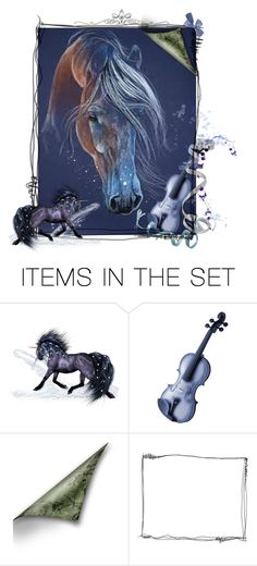 """""""♥ New Age New Page ~ Spirit of the Horse"""" by catfabricsandbuttons ❤ liked on Polyvore featuring art"""