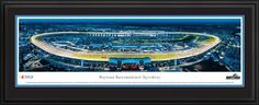 "NASCAR Tracks - Daytona Intl Speedway Aerial - Night II - Framed Poster Print by Laminated Visuals. $189.95. This aerial panorama of Daytona International Speedway features a twilight view during a NASCAR Sprint Cup Series race. The 480-acre motorsports complex, which opened in 1959, boasts the most diverse schedule of racing on the globe, featuring everything from NASCAR Sprint Cup Series to go-karts and superbikes. The Speedway is also home to ""The Great Americ..."
