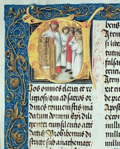 Ordination of Seminarians into the Priesthood from the Pontifical of Bishop Erasmus Ciolek, c.1510 (tempera & gold on parchment) by Polish School Lithuania, Poland, Tempera, Sell Your Art, Fine Art Prints, Crown, School, Printing, Corona
