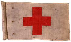 vintage red cross flag