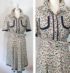 Italian Vintage Silk Dress by BelmondoVintage on Etsy, €50.00