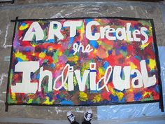 Art Creates the Individual - Scalby School (Banner made fro the Art Party Conference) Stella Adler, Classroom Banner, Art Party, Apc, Wall Quotes, Art Therapy, Art Lessons, Banners, Conference