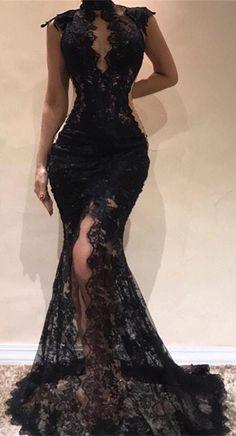 custom made Gorgeous Long Sleeve Mermaid Evening Dress 92e17d49e