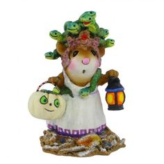 Halloween figurine, mouse miniature