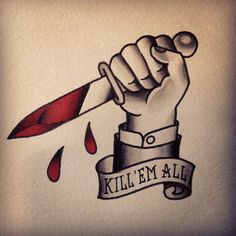 #traditional #knife #tattoo #killemall