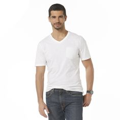 <p>This men's slubbed T-shirt by Structure takes comfort to a new level. Featuring a taped V-neck and a handy patch pocket at the chest, this jersey knit tee is a top choice for all-day comfort that moves with you. Whether you layer it under flannels and hoodies or wear it on its own, you'll love the fit and feel of this all-cotton tee.</p>