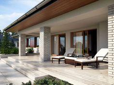 Ten wygodny dom, swoim pełnym programem funkcjonalnym zapewnia komfort 5,6-osobowej rodzinie.