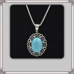 """Silver Tibetan & Turquoise Necklace NEW Lovely pendant necklace on an 18"""" chain with 2"""" extender. New in package Jewelry Necklaces"""