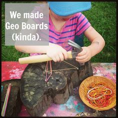 Creative Curriculum Tree Study supplement- creating your own geoboards