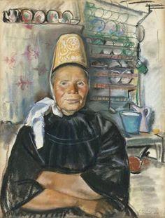 Zinaida Yevgeneyvna Serebriakova  Breton woman, pays Bigouden