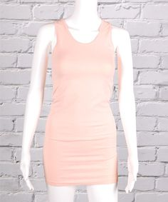Look what I found on #zulily! Light Peach Extra-Long Seamless Tank #zulilyfinds