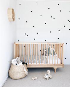 Polka Dot Nursery, Kids Bedroom, Kids Rooms, Nursery Inspiration, Baby Room, Cribs, Toddler Bed, Polka Dots, Black And White