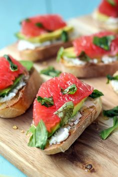 Grapefruit brightens up appetizers.