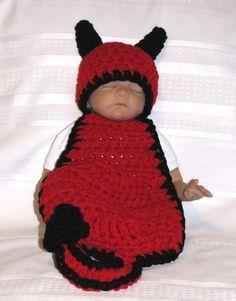 Baby Halloween Newborn PHOTO Prop  DEVIL  Hat and by pixieharmony, $34.95