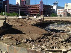Crews tear down Virginia Street bridge on Friday (News 4) 6/12/15