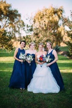 Long Blue Bridesmaid Dresses Barn Wedding Venue Farm Ceremony Stuff