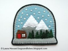 Bugs and Fishes by Lupin: How To: Felt Snow Globe Ornament