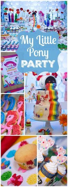 You won't believe this My Little Pony rainbow art party! See more party ideas at CatchMyParty.com!
