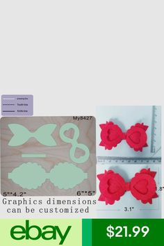 New Bow Wooden die Scrapbooking Cutting Dies beautifulamerica - Her Crochet Making Hair Bows, Diy Hair Bows, Diy Bow, Bow Template, Bow Pattern, Gift Bows, Diy Hair Accessories, Ribbon Work, Flower Tutorial