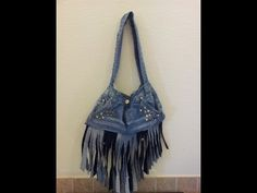 How To Make a purse out of old jeans  Summer studded DIY EASY