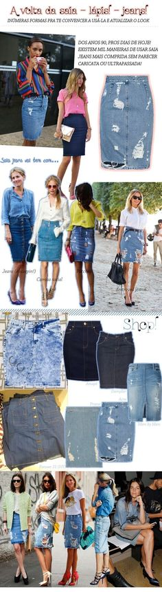 Midi Denim Skirts