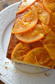 Citrus Cake with Candied Oranges - The a Woks of Life