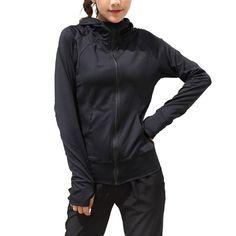 Black Running Jacket for Women Yoga Zipper Long Sleeve Women Sport Jacket  Fitness Ladies Reflective Hoodies Sport Women Clothing a5234a81a
