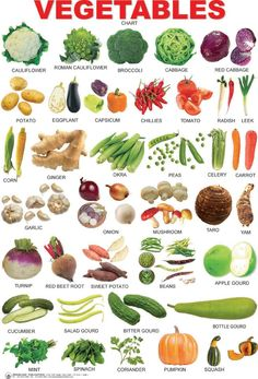 English vocabulary: vegetables and vegetables - Englisch lernen - Opleiding web English Tips, English Study, English Class, English Lessons, English Food, French Lessons, Spanish Lessons, Food Vocabulary, English Vocabulary