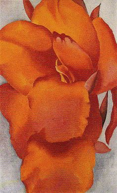 Georgia O'Keeffe. Red Canna Flame Colored Canna c1924 My number one favourite artist... Just LOVE her.