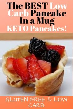 best low carb pancake in a mug!Pancake for one! Gluten Free - -The best low carb pancake in a mug!Pancake for one! Diabetic Breakfast Recipes, Quick Keto Breakfast, Keto Recipes, Breakfast Gravy, Breakfast Hash, Diet Breakfast, Ketogenic Recipes, Pancakes In A Mug, Low Carb Pancakes
