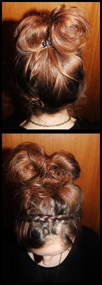 Nice hairstyle i've make for my best friend for New Year :)
