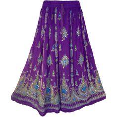 Purple Skirt Boho Gypsy Elegant Skirt Bollywood India Skirt Long... ($27) ❤ liked on Polyvore featuring skirts, bottoms, long skirts, activewear, grey, women's clothing, sequin maxi skirt, grey maxi skirt, maxi skirt and long gray skirt