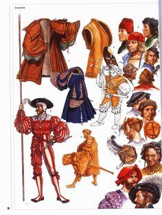 Details of landsknecht hats