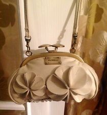 Fiorelli Cream  Flower Leather Evening/Clutch Floral bag In Exc Cond
