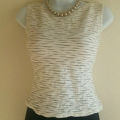 BYER CALIFORNIA Beautiful Cream & Gold Top! EXCELLENT CONDITION! The photo doesn't give the beauty enough credit! Great paired with wide-legged flowing linen, a pencil skirt, and slim fit cream or tan pants (I'd even dare to wear purple pants). This price is not firm. Feel free to make a reasonable offer! Or use Poshmark's new bundle option to bundle this item with at least two more items for 15% off entire order! Sorry loves, but no trades. Byer California  Tops Blouses
