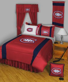 This Montreal Canadiens Sidelines Collection Complete Bedroom Package will fully decorate the bedroom of any child, youth, or adult Montreal Canadiens fan.