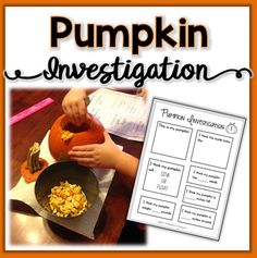 Investigate a pumpkin using your senses and math skills!  Includes a page for predictions and another page for recording results.