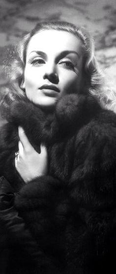 Carole Lombard portrait (detail)